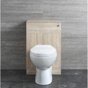 Classic Oak Stand WC Komplettset B 500mm mit Spülkastenverkleidung
