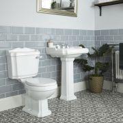 3-Loch Waschbecken und Stand-Toilette Set Nostalgisch - Oxford