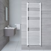 Handtuchheizkörper Gebogen Weiß 1800mm x 500mm 986W - Etna