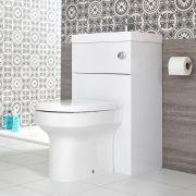 2-in1 Kombination aus Toilette und Waschbecken Weiß - Cluo