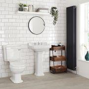 Klassisches Waschbecken mit Sockel für 3-Loch-Armatur - Carlton