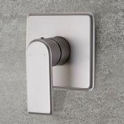 Moderne Manuelle 1-Weg Duscharmatur Unterputz in gebürstetem Nickel - Aldwick