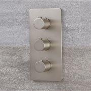 Moderne Thermostatische 3-Wege Duscharmatur in gebürstetem Nickel - Harting