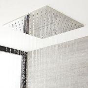 Duschkopf Edelstahl mit Wasserblade Unterputz Quadratisch 400mm Chrom - Tatham