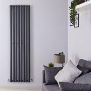 Design Heizkörper Vertikal Einlagig Anthrazit 1780mm x 472mm 1190W - Revive