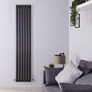 Design Heizkörper Vertikal Einlagig Schwarz 1780mm x 354mm 892W - Revive