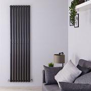 Design Heizkörper Vertikal Einlagig Schwarz 1780mm x 472mm 1190W - Revive