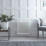 Gliederheizkörper, Elektrisch, Nostalgie, Weiß, 3-Fach-Säulen, 600mm x 605mm, Auswahl an WLAN-Thermostat - Regent