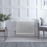 Gliederheizkörper Horizontal 3 Säulen Nostalgie Weiß 600mm x 785mm 1243W - Regent