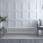 Gliederheizkörper Horizontal 2 Säulen Nostalgie Weiß 300mm x 1505mm 1050W - Regent