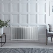 Gliederheizkörper, Elektrisch, Weiß, Doppel-Säulen, 600mm x 1190mm, Auswahl an WLAN-Thermostat - Regent