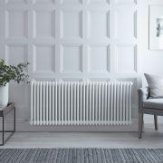 Gliederheizkörper, Elektrisch, Nostalgie Weiß, Doppel-Säulen, 600mm x 1505mm, Auswahl an WLAN-Thermostat - Regent