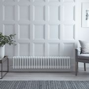 Gliederheizkörper,  Elektrisch, Nostalgie Weiß, 4-Fach-Säulen, 300mm x 1505mm, Auswahl an WLAN-Thermostat - Regent