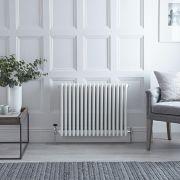 Gliederheizkörper Horizontal 4 Säulen Nostalgie Weiß 600mm x 785mm 1613W - Regent