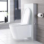 Saru Sanitärmodul H 1000mm Weiß mit Sensor-Spülung für Wand-WC