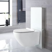 Otterton Wand-WC Randlos inkl. Saru Sanitärmodul H 1000mm Weiß mit Sensor-Spülung