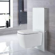 Milton Wand-WC inkl. Saru Sanitärmodul mit Sensor-Spülung H 1000mm Weiß