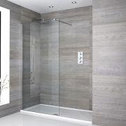 Portland Walk-In Duschabtrennung mit weißer Duschtasse - Wählbare Größe