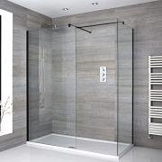 Nox Eck Walk-In Duschkabine mit Duschtasse - Wählbare Größe
