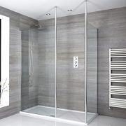 Sera Eck Walk-In Duschkabine mit Duschtasse - Wählbare Größe