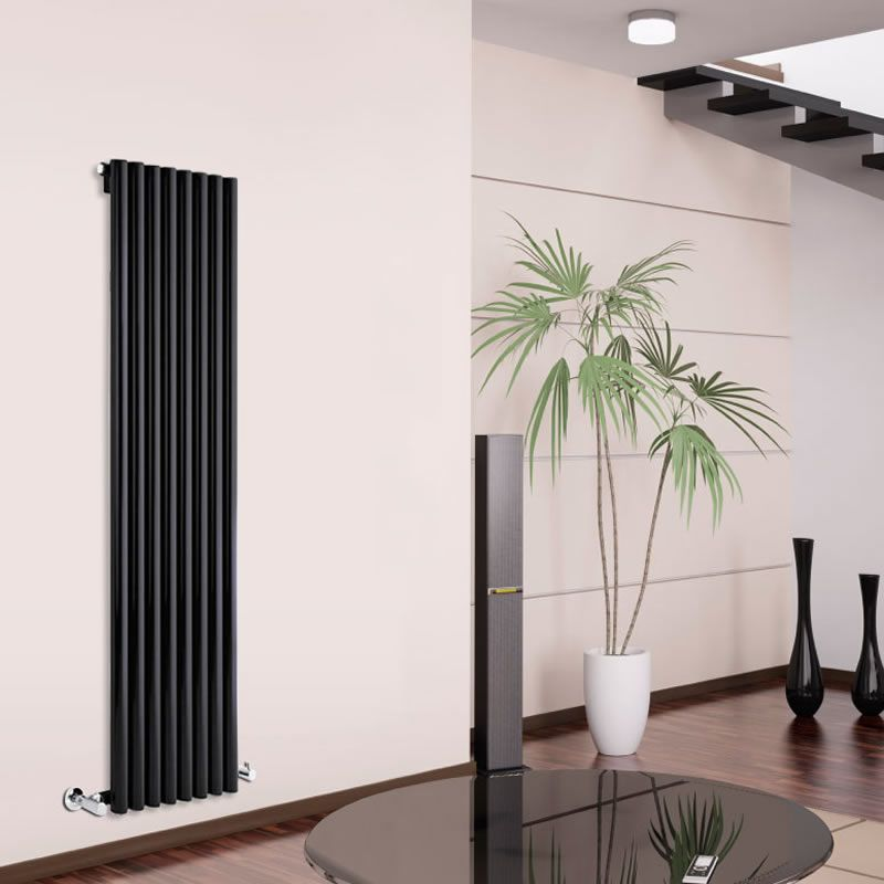 design heizk rper vertikal einlagig schwarz 1780mm x 472mm 1391w savy. Black Bedroom Furniture Sets. Home Design Ideas