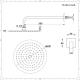 200mm runder Duschkopf und Wandarm - Gebürstetes Nickel