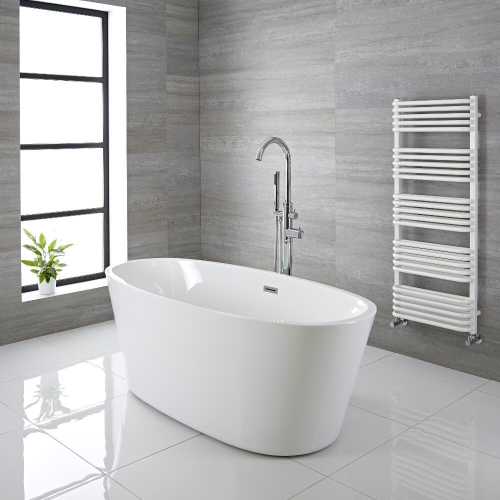 Fassungsvermögen Badewanne.Freistehende Badewanne Oval 1595mm Ashbury