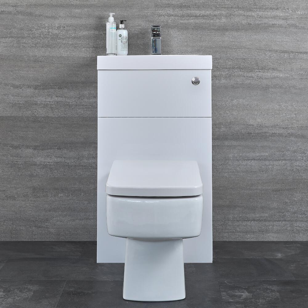 Eckige Toilette