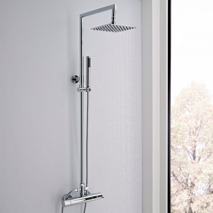 Thermostatische Duschsäule aus verchromtem Messing - Como