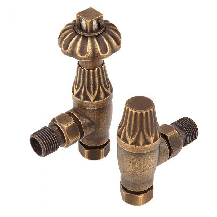 Winkelventil, Retro, in Bronze, Paar