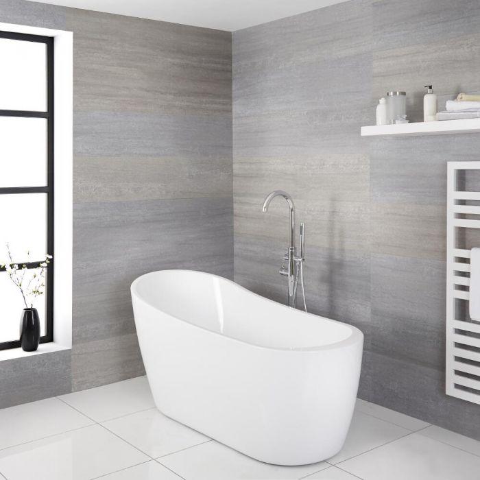 Freistehende Badewanne ohne Überlauf 1665mm x 720mm - Otterton