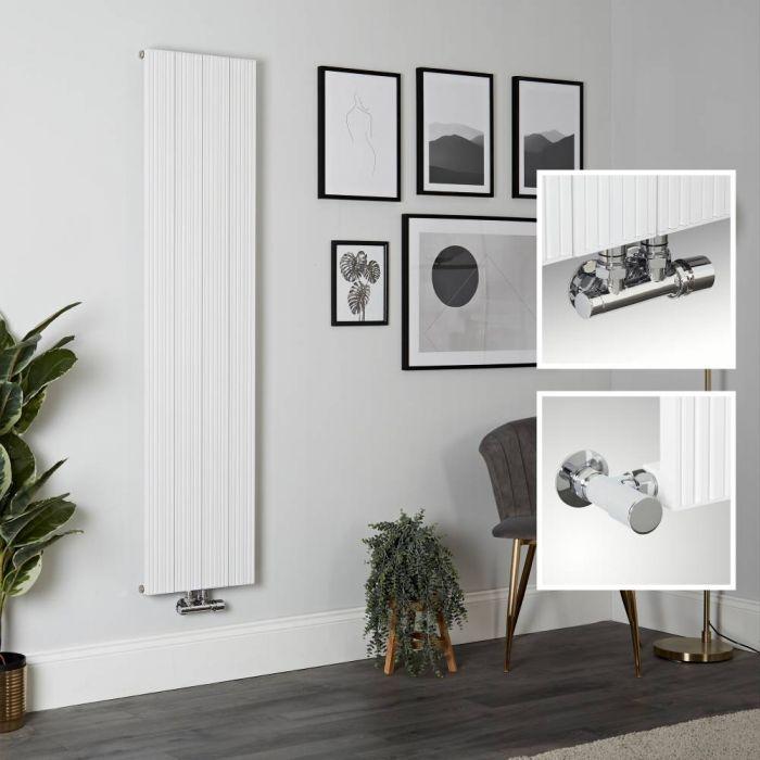 Aluminium Design Heizkörper Vertikal Weiß 1600mm x 375mm 1216W - Lex