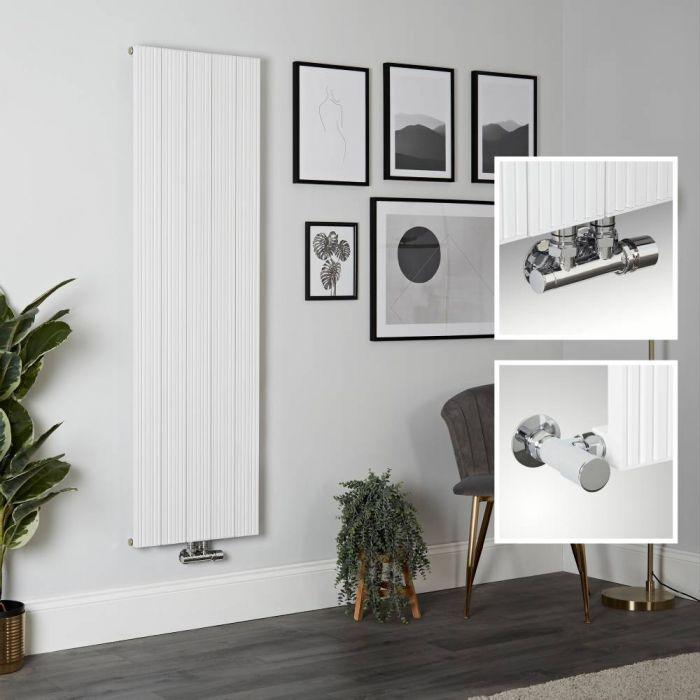 Aluminium Design Heizkörper Vertikal Weiß 1600mm x 470mm 1521W - Lex