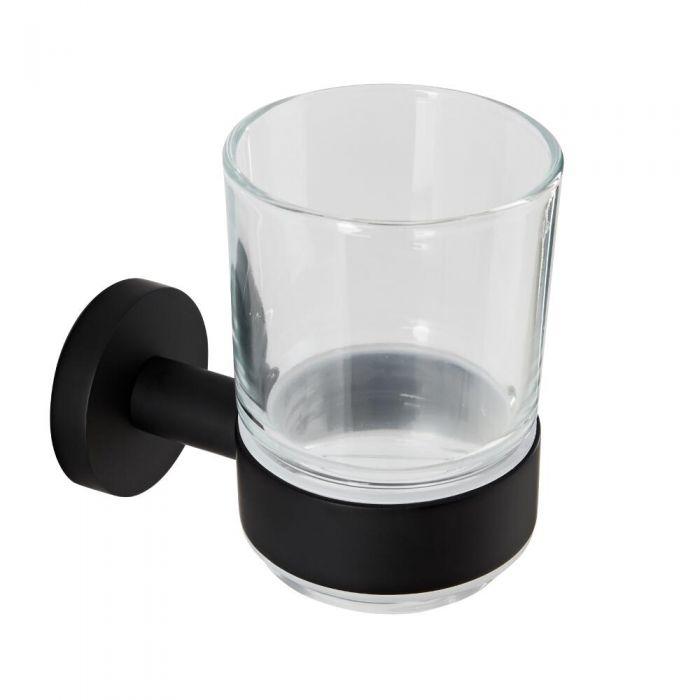 Nox Wandhalter mit Glas Mattschwarz
