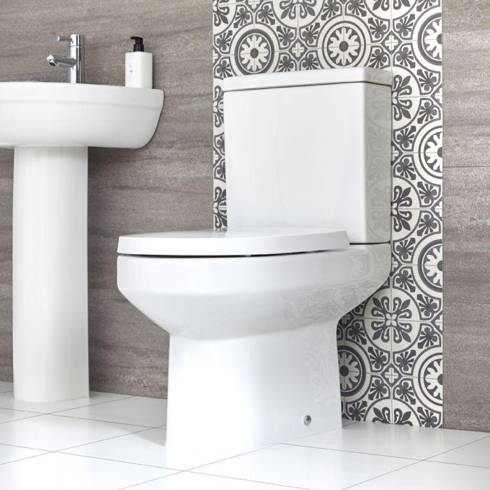 Stand WC mit aufgesetztem Spülkasten inkl. Sitz mit Absenkautomatik- Covelly