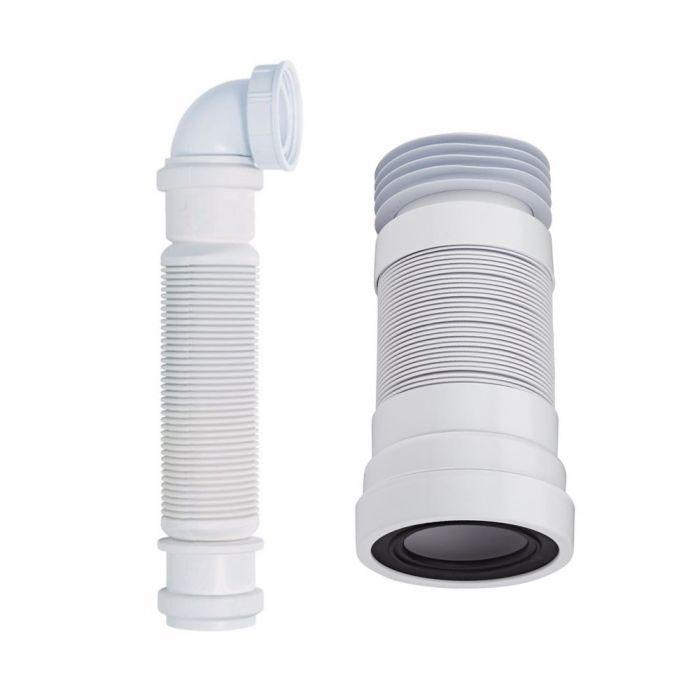 Siphon für Waschtischunterschränke und WC-Abflussrohr