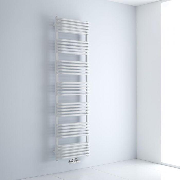 Design Badheizkörper mit Mittelanschluss, Weiß 1800mm x 500mm 1743W – Arch