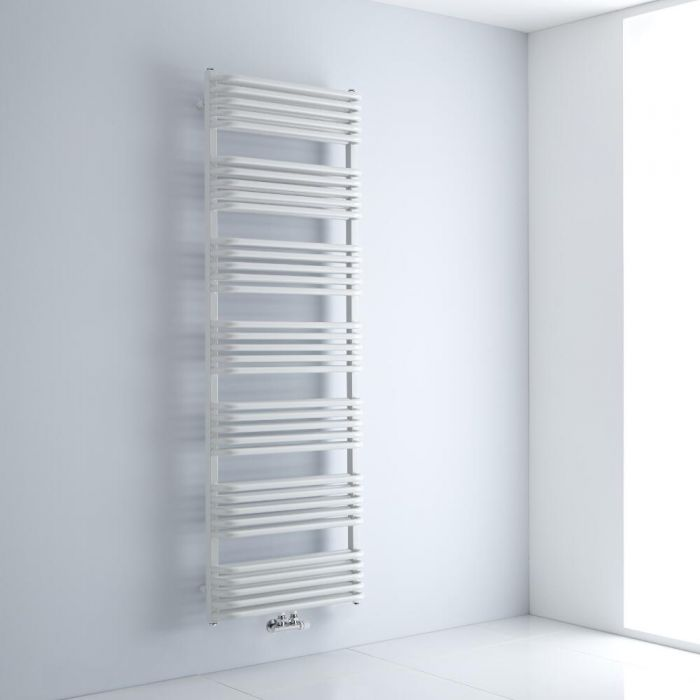 Design Badheizkörper mit Mittelanschluss, Weiß 1800mm x 600mm 2010W – Arch