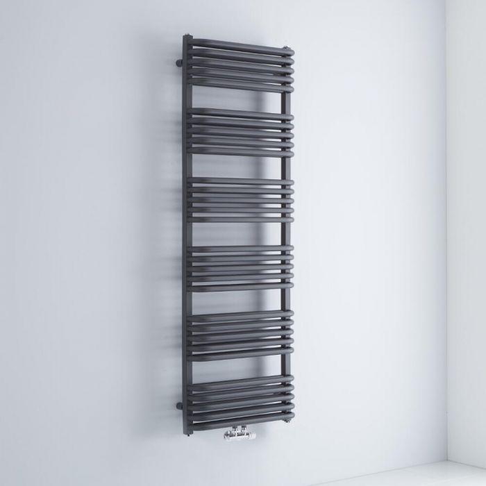 Design Badheizkörper mit Mittelanschluss, Anthrazit 1533mm x 500mm 1493W – Arch