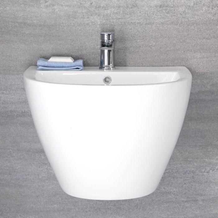 Wand-Handwaschbecken 530mm x 440 mm Weiß 1 Hahnloch - Ashbury