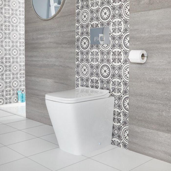 Sandford Eckige Vorwand-Toilette inkl. Sitz mit Absenkautomatik
