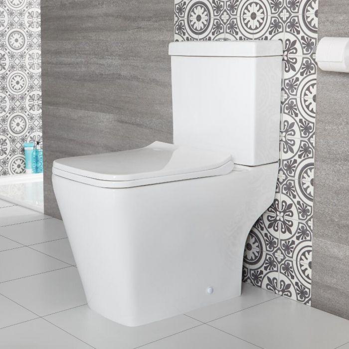 Sandford Stand WC mit aufgesetztem Spülkasten inkl. Sitz mit Absenkautomatik