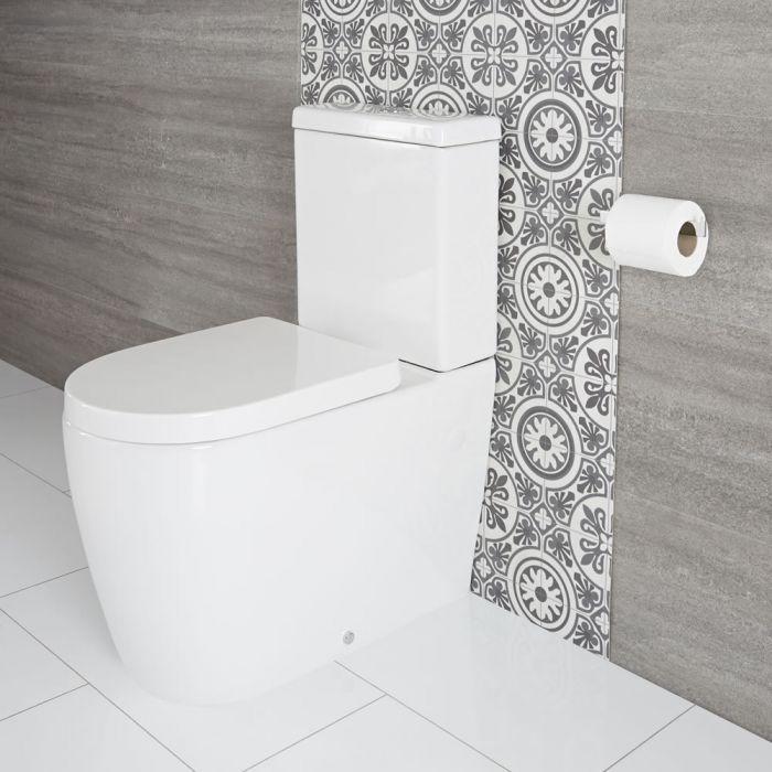 WC mit aufgesetztem Spülkasten inkl. Sitz mit Absenkautomatik - Otterton