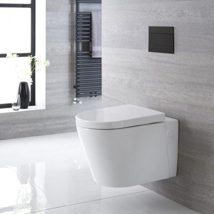 Hänge WC Spülrandlos Oval Sitz mit Absenkautomatik - Exton