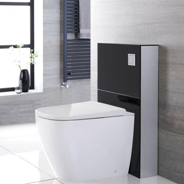 Hirayu Japanisches Stand Dusch-WC mit Saru Sanitärmodul H 822mm Schwarz