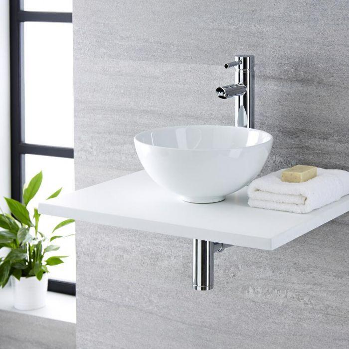 Aufsatzwaschbecken, rund – 320mm, ohne Hahnloch - Witton