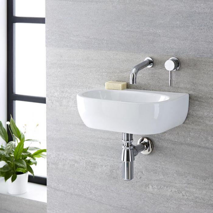 Wandhängendes Becken aus Keramik 420 x 290mm - Langtree