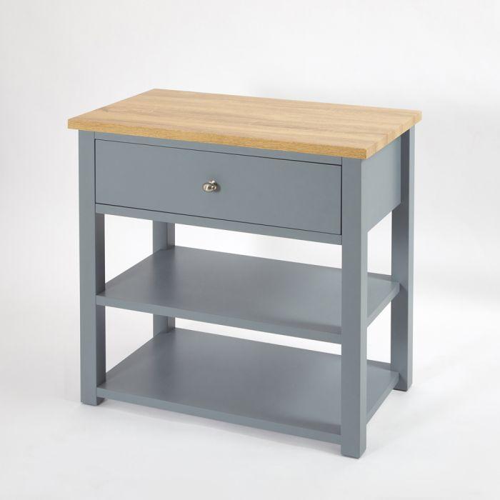 Waschtischunterschrank für Aufsatzbecken, Hellgrau, 840mm - Stratford