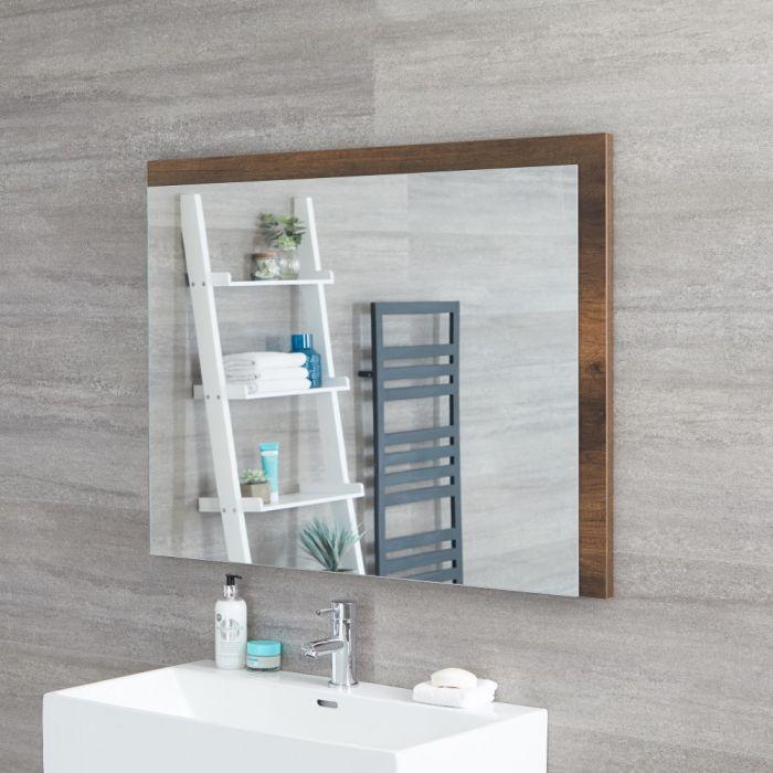 Hudson Reed Hoxton - Spiegel Dunkle Eiche 750 x 1000mm