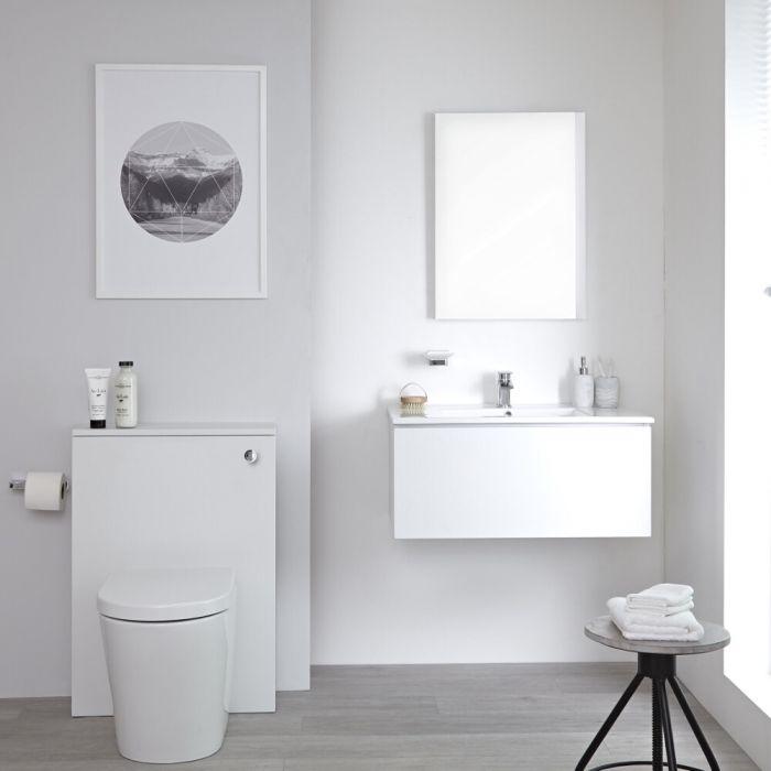 Newington - Waschtisch mit Unterschrank 800mm & WC mit Vorwandelement - Mattweiß